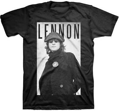 Portrait Adult Tee (John Lennon Cabbie Portrait Adult T-Shirt - Rock Band the Beatles Music)