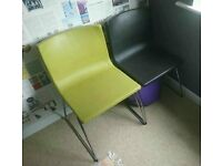 Ikea Bernhard dining lounge chairs, pair