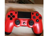 PS4 controller red like new
