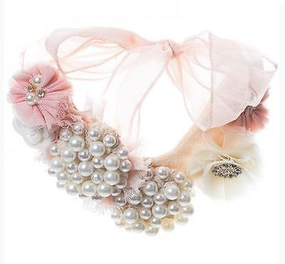 Miss Rose Sister Violet Pearl & Rhinestone Choker Necklace~ Wedding Jewelry