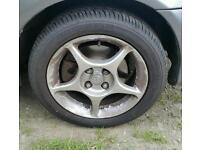 Mazda mx5 Enkei alloy wheels brand new tyres x 4 lightweight