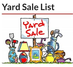 Yard sale this Friday and Saturday in Trail