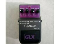 Guitar effects pedal. Flanger by GLX