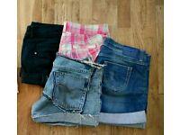 Summer shorts: Guess Jean's, Bershka and H&M