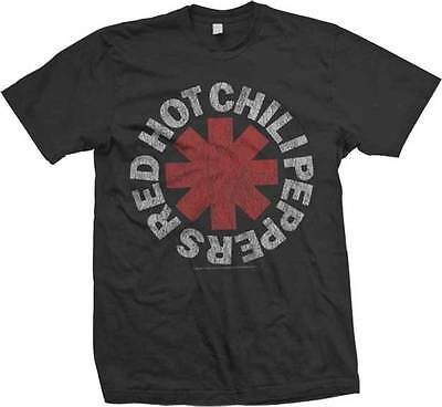 Red Hot Chile (RED HOT CHILI PEPPERS - Vintage Logo - T SHIRT S-M-L-XL-2XL Brand New !)