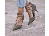 Zara khaki shoes size 4 / 37