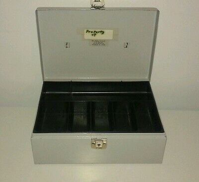 Metal Cash Box W Coin Drawer Insert