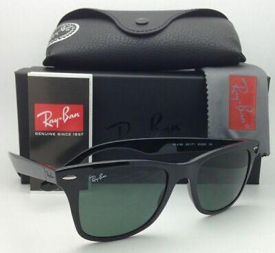 New RAY-BAN Tech Series Sunglasses RB 4195 601/71 52-20 Black w/ Green (Ray Ban Wayfarer Tech)