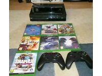 Xbox one with 7 games and 2 controllers +kinect