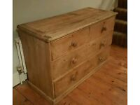 Stunning stripped pine chest of drawers (free local delivery)