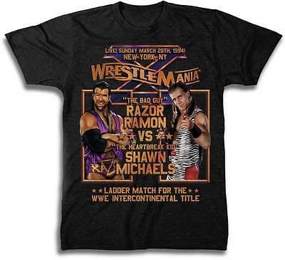 Wrestlemania 10 Shawn Michaels Vs Razor Ramon Wwe Mens Black T Shirt