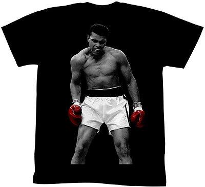 Muhammad Ali Ring Photo Adult T Shirt Boxing Champ