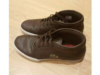 LACOSTE men's shoes worth £70 for £3 only- brown leather