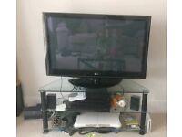 LG plasma TV and stand