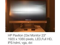 "HP pavilion 23"" monitor"