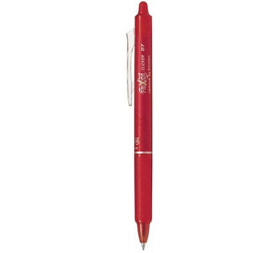Pilot Frixion Ball Clicker Retractable Gel Pen Fine Point 0.7mm Red Ink