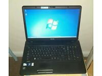Toshiba C670 laptop. 17 imch screen