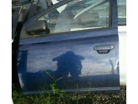 2002 toyota yaris 5 door nsf door in blue