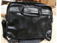 "Genuine leather laptop bag max 17"" laptop"