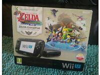 Boxed Wii U console bundle - Zelda Limited Edition - plus 40 digital games