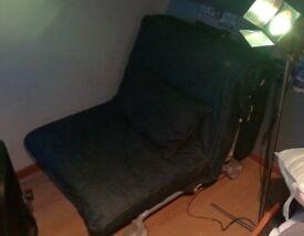 Boys/girls denim sofa bed chair from Ikea