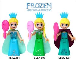 Frozen Snow Queen Elsa &Princess Anna dolls compatible with Lego Yellowknife Northwest Territories image 3
