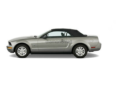 Ford Mustang Convertible Top & Glass Window Black Stayfast Cloth 2005-2013