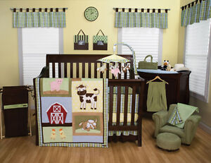 Farm Animal Crib Bedding Ebay