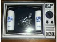 DIESEL ONLY THE BRAVE GIFT SET BNIB GENUINE 50ML EDT ALL OVER SHAMPOO AND AFTER SHAVE BALM
