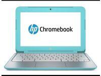 HP Google Chromebook Aqua Blue