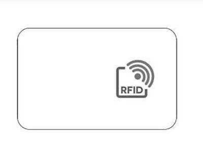 1x RFID Chipkarte Proximity Thin Card mit ID Code 125KHz ISO-Format 85x54x0,81mm 1 Proximity Card