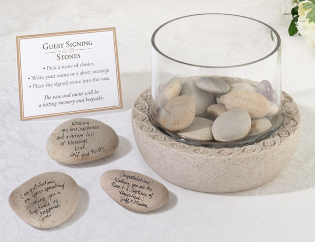 Guest Book Alternatives  Natural Signing Stones Wedding Party Events