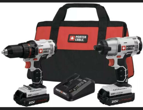 PORTER-CABLE 20V MAX Cordless Drill and Impact Driver Combo