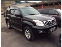 2004 (54) TOYOTA LAND-CRUISER 3.0 D4-D AUTO DIESEL LC3 BLACK VERY WELL LOOKED AFTER
