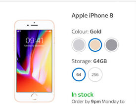 iPhone 8 64Gb Gold BNIB Unlocked