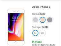 iPhone 8 64Gb Gold BNIB Unlocked
