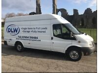 DLW MAN AND VAN COLLECTIONS/DELIVERIES/REMOVALS/HOUSE CLEARANCES/STORAGE