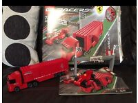 Lego racers Ferrari truck and f1 car 8153 boxed and instructions