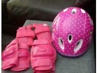 Peppa pig helmet and pads