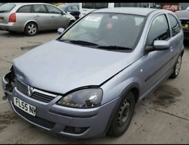 2005 VAUXHALL CORSA C 1.2 TWINPORT BREAKING Z12XEP Z163 ENGINE DOOR WINDSCREEN AXLE SUBFRAME