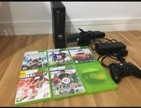 Xbox 360 with games/collectible