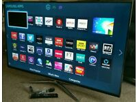 """SAMSUNG 55"""" Ultra-Slim LED FULL HD 3D SMART TV with Built in WiFi, Freeview HD, New Condition."""