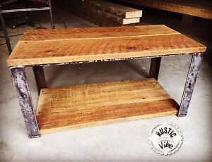 Barn Board and Reclaimed Raw Steel Table by rustic_vibe Kitchener / Waterloo Kitchener Area image 1