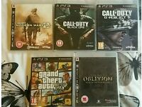 5 ps3 games gta 5 and call of duty's