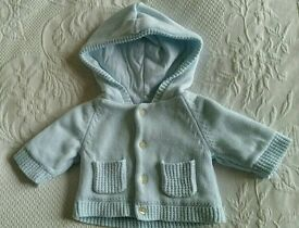 Emile et Rose blue cardigan coat. New born baby