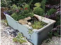 Shanks Double Belfast Sink / large garden planter / pond / rockery
