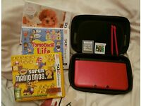 Nintendo 3DS XL Red with games