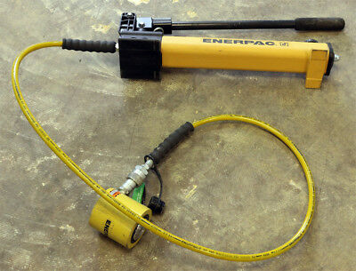 Enerpac Scl201h Low-height Pressure Hand Pump Rcs-201 Hydraulic Cylinder