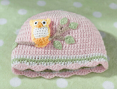 Pink Owl Cap 0-6 Months Cute Woodland Themed  Baby Girl Shower Gift - Baby Girl Owl Themed Baby Shower