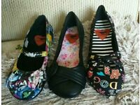 Rocket Dog flat shoes size 3 £12 each